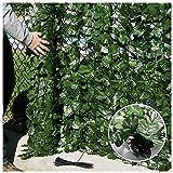 YUXO Künstliche Efeu Garten SichtschutzDekorative Wand Outdoor Ivy Sichtschutz Künstlicher Zaun einschließlich Reißverschluss Garten oder Terracedecorative Zäune Sichtschutz Windschutz Verkleidun