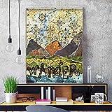 YF'PrintArt Leinwanddrucke, Hippie Carpe Diem Poster Ölgemälde Auf Leinwand Wandkunst Wandbilder Bilder Für Schlafzimmer Dekoration Leinwandbild Rahmenlos 50X70Cm,-Yf731