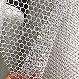 Dekoratives Seilnetz für Drinnen oder Draußen, Kunststoffgitternetz Geflügelnetz - Weißes Kunststoffnetz Sechseckiges Kunststoffgeflügelnetz Extrudiertes Kunststoff-Hühnerdrahtzaun Kunststoff-Geflüg