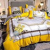 Exlcellexngce Bettbezug 155 X 220,Einbaufolie - Tiefe Taschensatin Seidenbett Seidenbett, Atmungsaktiv Weich Und Bequem - Falten, Verblassen, Satiniert Und Abriebfest-M_1,8m Bett (4 StüCke)