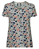 Elegante Tunika, Bluse für Damen Eco-Bamboo, nachhaltig, antiallergen und atmunsaktiv (M/38, Blau)