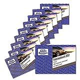 AVERY Zweckform 222-10 Fahrtenbuch (für PKW, vom Finanzamt anerkannt, A6 quer, 80 Seiten insgesamt 390 Fahrten, für Deutschland u. Österreich zur Abgrenzung privater/geschäftlicher Fahrten) 10er-Pack