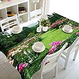 XXDD 3D Tischdecke rosa Pfirsichblüte Schmetterling Muster Tischdecke rechteckige staubdichte Tischdecke Home Textil Variation A5