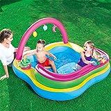 LHFLU-SP Aufblasbarer Pool Baby-Planschbecken, Spielzentrum für Kinder Outdoor-Aktivitätszentrum mit Ocean Ball