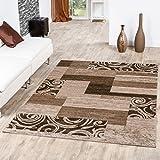 Teppich Günstig Patchwork Design Modern Wohnzimmerteppich Beige Creme, Größe:120x170 cm