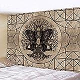 KHKJ Geheimnisvolles Symbol Hauptdekoration Wandteppich Mandala psychedelische Szene Wandteppich dekorative Bettlaken Sofadecke A3 200x150cm