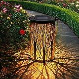 1 Stück Solar Laterne für Außen,OxyLED IP44 Wasserdicht Dekorativ Solar Gartenleuchte,Solarlampe Outdoor Dekorationen für Weg Garten Patio Terrasse und Hof Weihnachten(Warmweiß)
