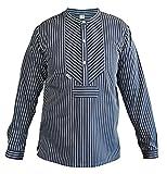 modAS original traditionelles Finkenwerder Fischerhemd für Damen und Herren, Farbe:breiter Streifen, Größe:Herren 62 und Damen 56
