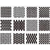 Seeyouagan 12 Stk. Mandala Dotting Tools Vorlagen Schablonenset Für DIY-Malerei Zeichnung Zeichnen Kunsthandwerksprojekte