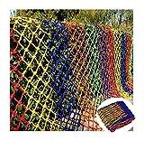 hanfseil Outdoor-Kletternetze Anti-Fallen-Netz, gewebte Frachtnetze, Kinderschwelground-Schutznetze, Nylon Seile Kinder dekorative Netze, farbige Treppen Sicherheitsnetze Katzen Netz