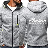 Herren Hoodie Zip Sweatshirt - Indian Mustang Print Unisex Casual Mit Kapuze Langarm Sport Jacke Hoodies - Teens Gift A-X-Large