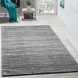 Paco Home Teppich Kurzflor Modern Gemütlich Preiswert Mit Melierung Grau Anthrazit Creme, Grösse:120x170