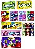 American Sweets Candy Geschenk | Nerds Box, Sweetarts Seil, Sauer Spray, Apfelkopf, Zitronenkopf, Kauwürfel |