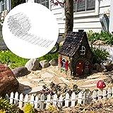 Your's Bath 5 x 90cm Rasenkante Granit Plant Beeteinfassung Gartenpalisade,Rasenkanten Grenze Pflanzendekoration für Rasens oder der Terrasse (Weiß)