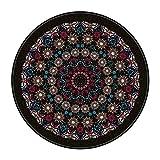 YOUHU Teppich Outdoor,Mandala Europäischer Retro Ethnischer Ultraweicher Glänzender Teppich Maschinenwaschbarer Großer Antifouling Rutschfester Teppich Mit Hängendem Außenteppich, Stil 3, D
