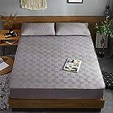 XGguo Matratzenschoner  Auflage zum Schutz der Matratze Bettlaken Einzelstück atmungsaktiv verdickt staubdicht-grau_200cmx220cm