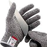 NoCry Schnittfeste Handschuhe – Leistungsfähiger Level 5 Schutz, lebensmittelecht. Größe : Medium, 1