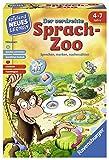 Ravensburger 24945 - Der verdrehte Sprach-Zoo - Spielen und Lernen für Kinder, Lernspiel für Kinder von 4-7 Jahren, Spielend Neues Lernen für 2-4 Spieler