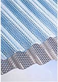Polycarbonat Lichtplatten Profil 76/18 Sinus (Welle) - Wabe - bronce 2,8 mm (Euro 25,90 qm)