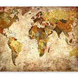murando - Fototapete Weltkarte Vintage 350x256 cm - Vlies Tapete - Moderne Wanddeko - Design Tapete - Wandtapete - Wand Dekoration – Landkarte k-A-0315-a-a