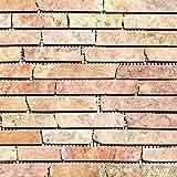 Mosaik Fliese Marmor Naturstein rot Brick Rossoverona für BODEN WAND BAD WC DUSCHE KÜCHE FLIESENSPIEGEL THEKENVERKLEIDUNG BADEWANNENVERKLEIDUNG Mosaikmatte Mosaikplatte