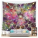 WFSH Tapestry Mandala Sternenhimmel Böhmen Tapisserie Wand Hanging Schlafzimmer Wohnzimmer Tapisserie Schlafsaal Wanddekoration Tapisserie (Color : S, Size : 70 * 100cm)