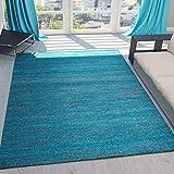 Teppich Kurzflor Wohnzimmer Meliert Mehrfarbig Beige Braun Türkis Grau Blau Türkis Grau Rosa Grün Pflegeleicht Robust Qualität 160x230