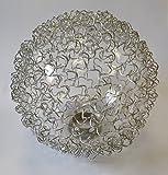 Lampenglas 6452 Ersatzschirm Schirm Glas Lampenschirm Ersatzglas für Pendelleuchte Drahtkugel Kugelg
