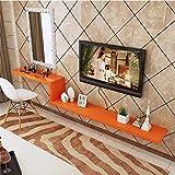 Sysyrqcer Wandmontierter TV-Regal Floating Regal-Foto-Spielzeug-Display-Regal-Set-Top-Box-Router DVD-Player-Box Lagerregal-Wandregal Bücherregal (Size : Orange 140Cm)