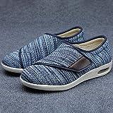 Easy Close Wide Fitting,Fügen Sie Dünger hinzu, um Freizeitschuhe, geschwollene Fußschuhe für ältere Menschen und Mutterschuhe mit Klettverschluss zu erweitern-Blau 1_49EU