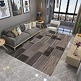 ZAZN Moderner Minimalistischer Teppich Wohnzimmer Schlafzimmer 3D Gedruckte Fußmatten Nordisches Teppichmuster Fußmatten Flurteppich
