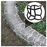 YFY 2 DIY-Gipsformen, aus Kunststoff-konkreten Gipsformen, verwendet für Sidewalk-Stepping Stones Garden Rasenspur (43x43x4cm, unregelmäßige -9-Zimmer) (Size : 2pack)