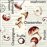 Sovie HORECA |Serviette Pilze | braun | Tissue 33 x 33 cm | für Geburtstag, Gartenparty, Gastronomie | Made in Germany | Hochwertig | 100 Stück
