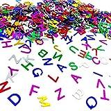 Oblique Unique® ABC Buchstaben Konfetti Bunt - 42g Tisch Deko Streudeko Dekoration für Schuleinführung Einschulung Schulanfang