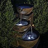 CLGarden Solar Springbrunnen NSP12 mit Akku und LED Beleuchtung für Garten Terrasse Balk