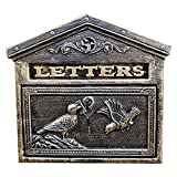 Letterboxes Briefkasten Vintage Außen Briefkästen, Wand Postkasten Briefkasten Briefkasten Antik Oxid Farbe Gusseisen Braun/Blau