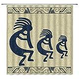 West Mermaid Cartoon Animal Spring Flower America Bamboo Football Yellow Stone Park Abstrakte Seestern Duschvorhang, Deko, Stoff, wasserdicht, Polyester mit Haken, 178 x 178 cm 70×70 lnch Multi006