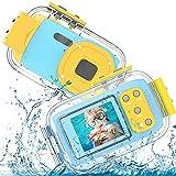 Kinderkamera Unterwasserkamera 8MP HD 1080P Video, 2,0 Zoll Kinder wasserdichte Digitalkamera für den Urlaub