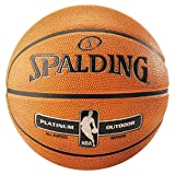 Spalding NBA Platinum Outdoor Basketball Ball (7, orange)
