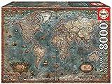 Educa Borrás - Teile der Karte der historischen Welt Puzzle, 8000 Teile (18017)