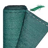 Relaxdays Zaunblende, Sichtschutz für Zaun & Balkongeländer, HDPE Gewebe, UV-stabilisiert, wetterfest, 1,8 x 6 m, grün