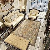 ZAZN Retro Bedruckter Teppich Wohnzimmer Sofa Couchtisch Schlafzimmer Großflächige Vollbettdecke Rutschfestes, Verschleißfestes M