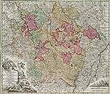 H. W. Fichter Kunsthandel: M. SEUTTER (*1678 Augsburg), Mappa Geographica, Lothringen, 1750, KST.