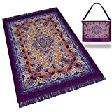 RAMODESTY Gebetsteppich Set : Hochwertiger Gebetsteppich inkl. Reisetasche - Ideale Islamische/Muslimische Geschenke - Seccade Islam (Lila)