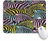Marutuki Gaming Mouse Pad Rutschfeste Gummibasis,Buntes Zebra,für Computer Laptop Office Desk,240 x 200mm