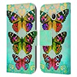 Head Case Designs Offiziell Zugelassen JENA DellaGrottaglia Schmetterling 2 Insekten Leder Brieftaschen Handyhülle Hülle Huelle kompatibel mit Nokia Lumia 630