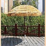 YREIFAG Sonnenschirm Hawaii Neigefunktion höhenverstellbar braun Terrassenschirm Balkonschirm Strandschirm Schirm für Strand Pool Patio Camping Urlaub