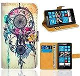 FoneExpert® Nokia Lumia 520 Handy Tasche, Wallet Case Flip Cover Hüllen Etui Ledertasche Lederhülle Premium Schutzhülle für Nokia Lumia 520