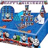 Krause & Sohn Party-Set Kindergeburtstag viele Teile Geschirr Geburtstag Dekoration Geburtstagstisch (Thomas & Seine Freunde)