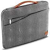 deleyCON 17,3' (43,94cm) Notebook Tasche für Netbook Laptop Laptoptasche aus robustem Nylon 2 Zubehörfächer verstärkte Polsterwände - G